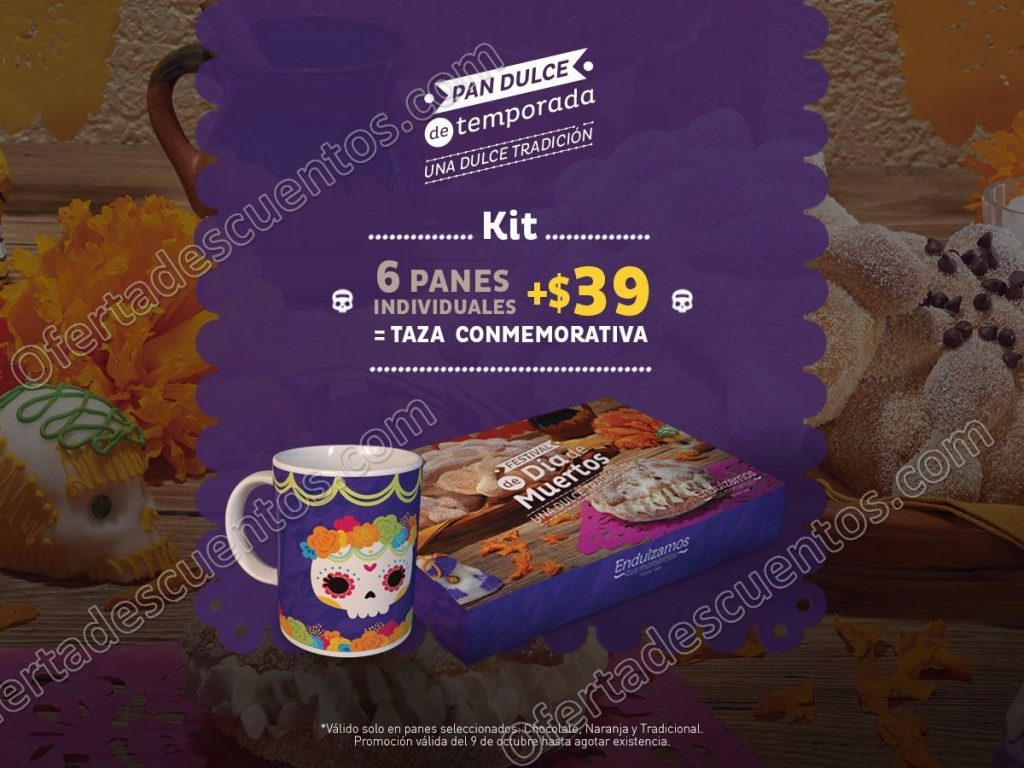 El Globo: 6 panes de muerto individuales más $39 te llevas una taza conmemorativa