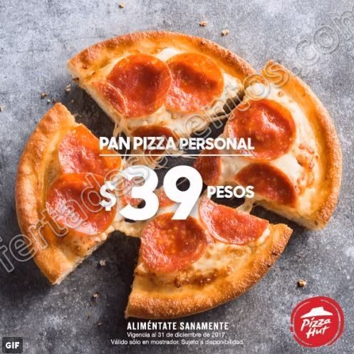 Pizza Hut: Pan Pizza Individual 1 Ingrediente por sólo $39