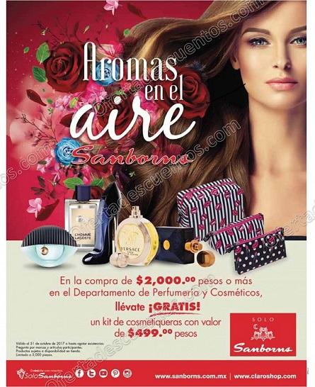 Sanborns: Kit de Cosmetiquera de Regalo al comprar Perfumes y Cosméticos