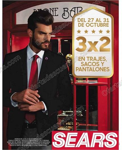 Sears: 3×2 en Trajes, Sacos y Pantalones para Caballero del 27 al 31 de Octubre 2017