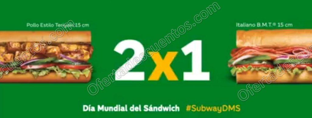 Subway Día Mundial del Sandwich: 2×1 en Subs el 3 de Noviembre 2017