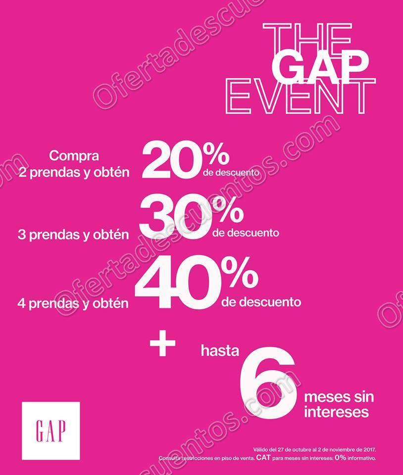 The GAP Event: Hasta 40% de descuento más Meses sin Intereses