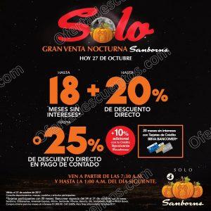 Venta Nocturna Sanborns 27 de Octubre 2017