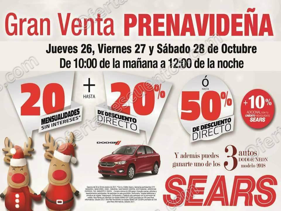 Gran Venta Prenavideña Sears del 26 al 28 de Octubre 2017