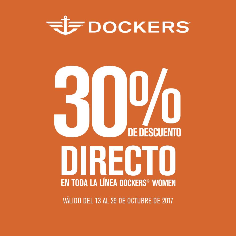 Sears: 30% de descuento directo en toda la línea Dockers Women