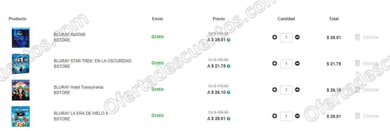 Elektra: Variedad de Películas Blu Rays y DVDs desde $20 Pesos con Envío Gratis