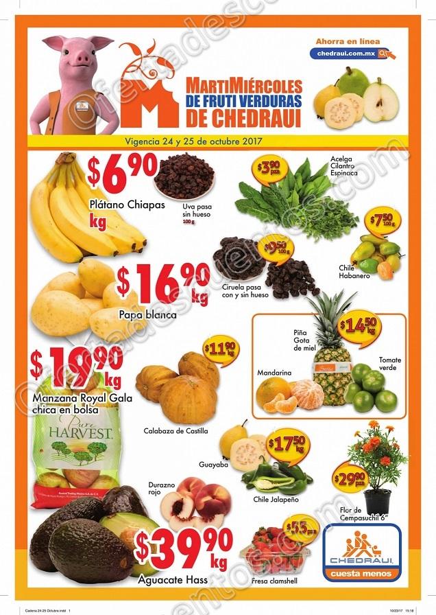 Frutas y verduras Chedraui 24 y 25 de Octubre 2017