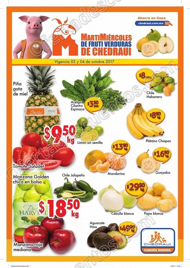 Frutas y Verduras Chedraui 3 y 4 de Octubre 2017