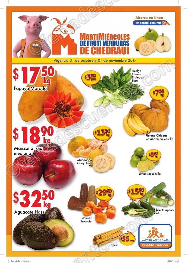 Frutas y Verduras Chedraui 31 de Octubre y 1 de Noviembre 2017
