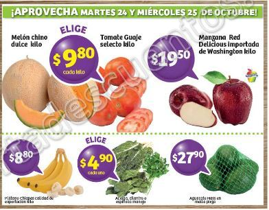 Frutas y Verduras Soriana 24 y 25 de Octubre 2017