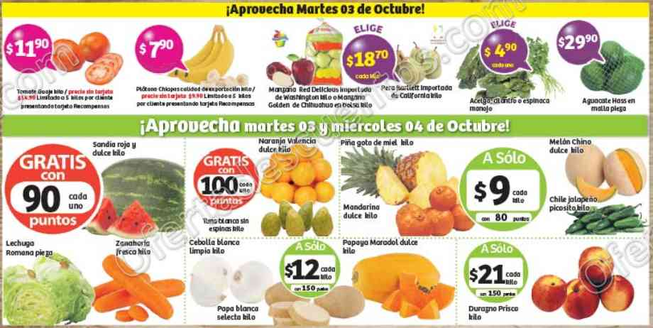 Frutas y Verduras Soriana 3 y 4 de Octubre 2017