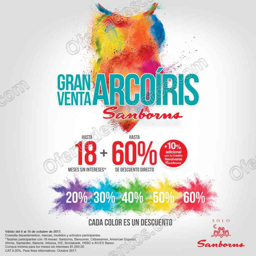 Gran Venta Arcoriris Sanborns del 6 al 16 de Octubre 2017