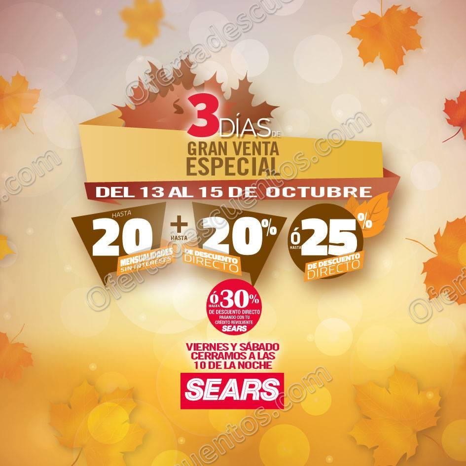 Gran Venta Especial Sears del 13 al 15 de Octubre 2017
