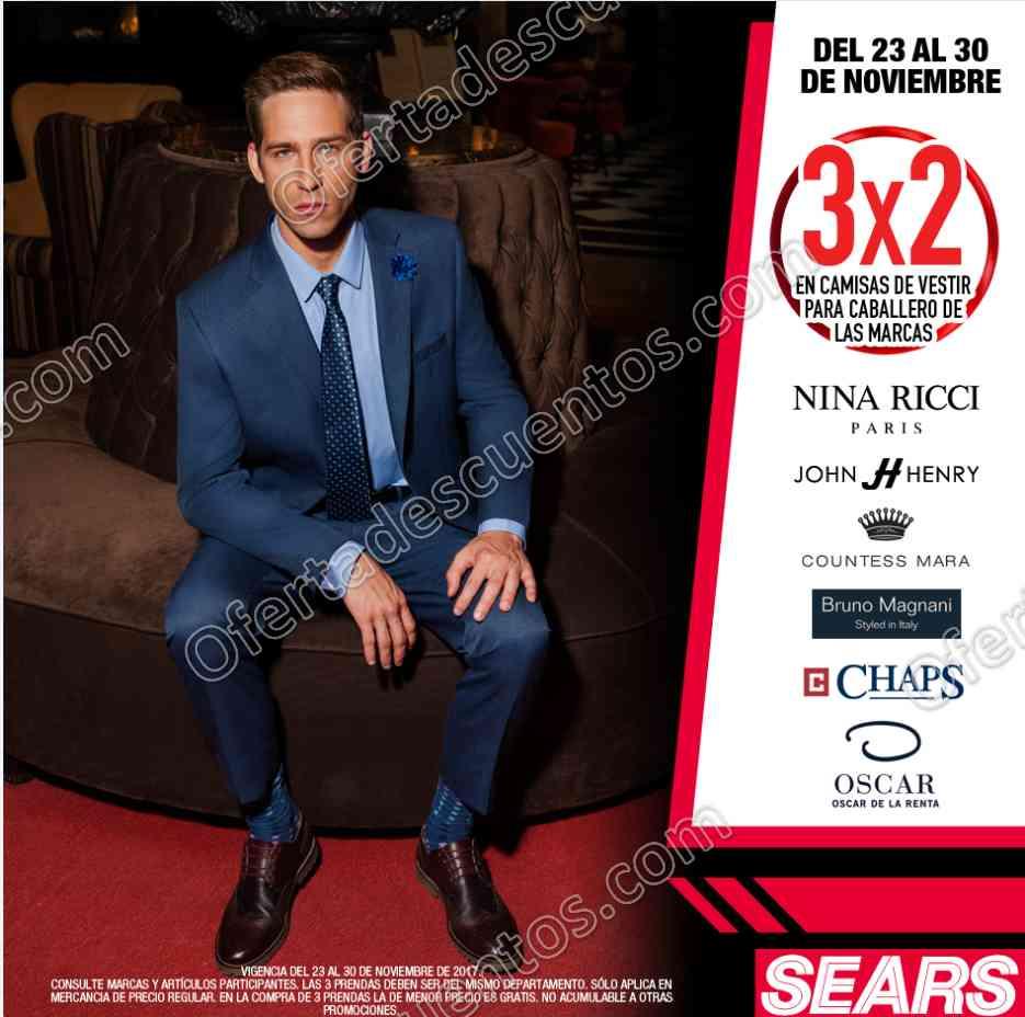 Sears: 3×2 en Camisas para Caballero Nina Ricci, John Henry, Bruno Magnani y más