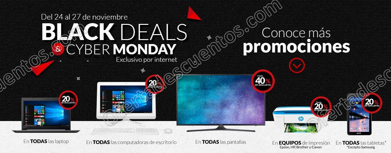 Black Deals y Cyber Monday 2017 Office Depot del 24 al 27 de Noviembre