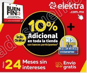 El Buen Fin 2017 Elektra: 10% de descuento adicional con varias Tarjetas