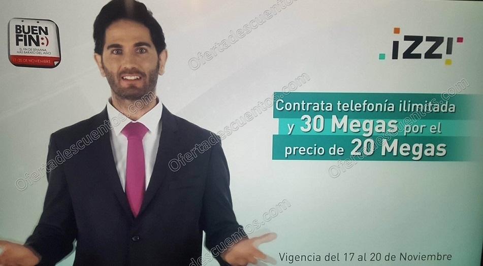 El Buen Fin 2017 Izzi: Contrata Telefonía Ilimitada+30 Megas a precio de 20