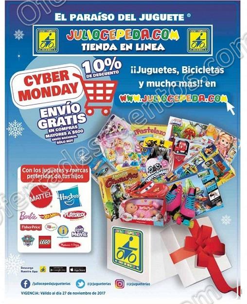 Cyber Monday 2017 Julio Cepeda Jugueterías: 10% de descuento en Juguetes, Bicicletas y más
