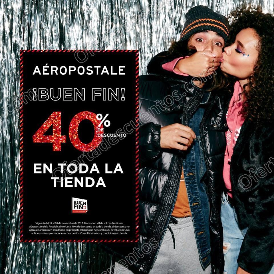 El Buen Fin 2017 Aéropostale: 40% de descuento en toda la tienda
