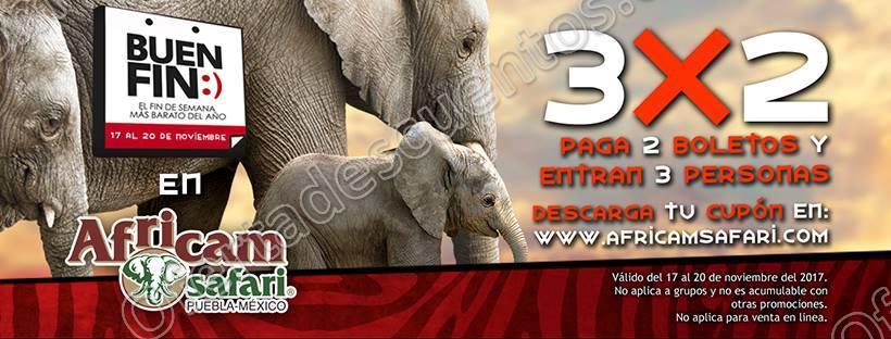 El Buen Fin 2017 Africam Safari: 3×2 en entradas