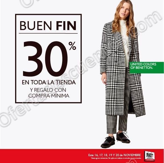 El Buen Fin 2017 Benetton: 30% de descuento en toda la tienda