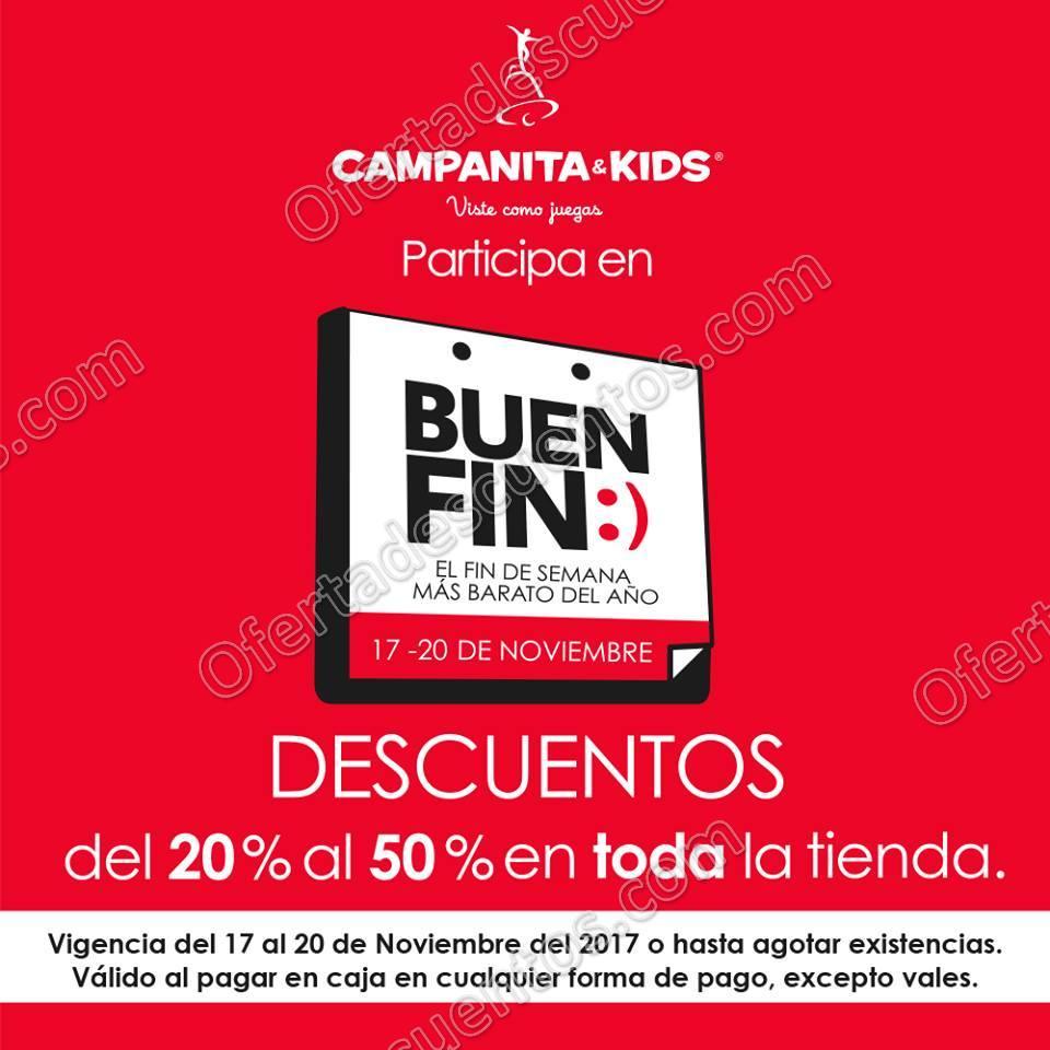 El Buen Fin 2017 Campanita&Kids: Hasta 50% de descuento en toda la tienda