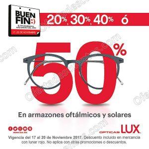 Promociones El Buen Fin 2017 Ópticas Lux: Hasta 50% de descuento