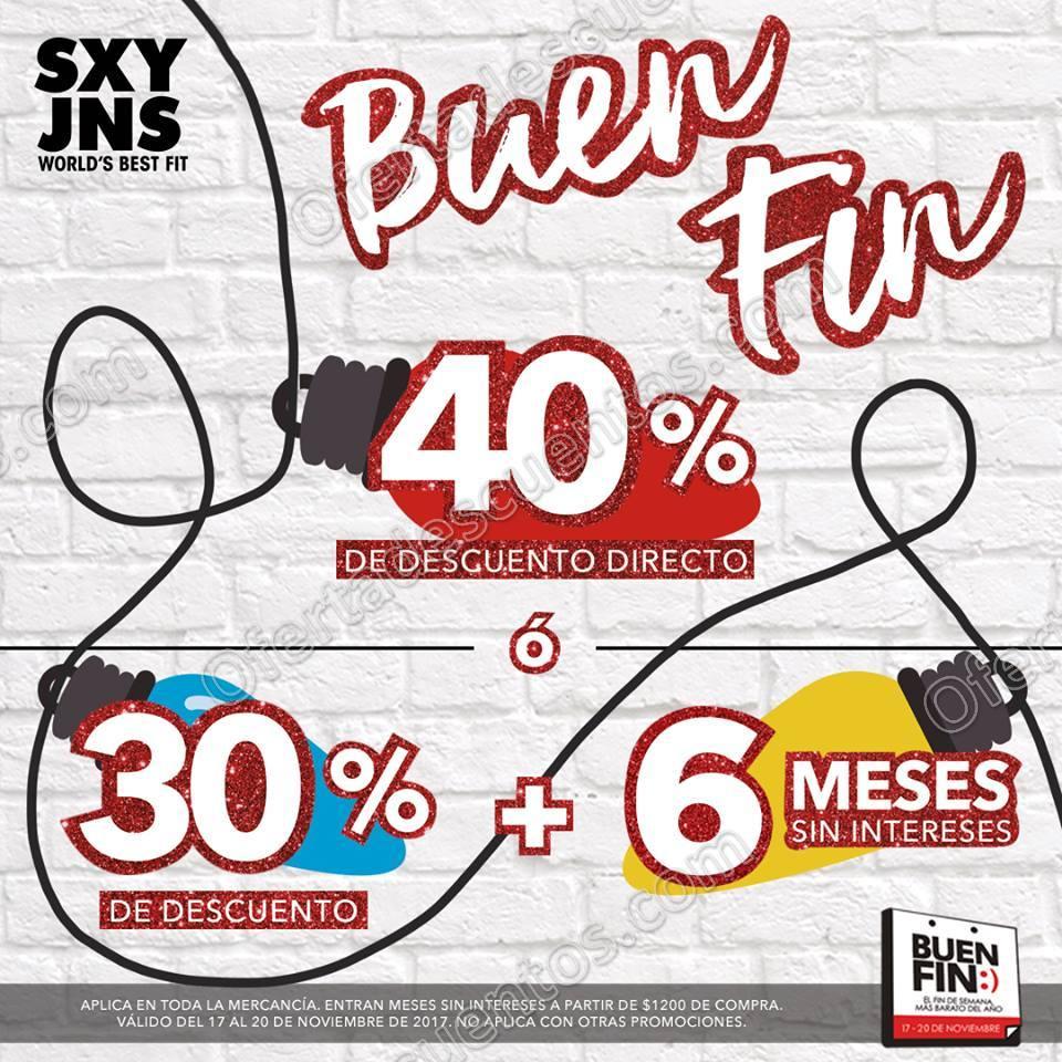 El Buen Fin 2017 SXY Jeans: 40% de descuento en toda la tienda