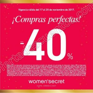 El Buen Fin 2017 Women'Secret: Hasta 40% de descuento