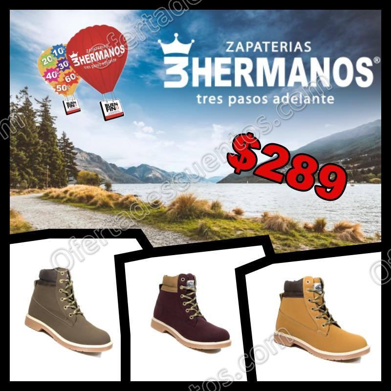 17ed5c1bd81d0 El Buen Fin 2017 Zapaterías 3 Hermanos  Hasta 60% de descuento