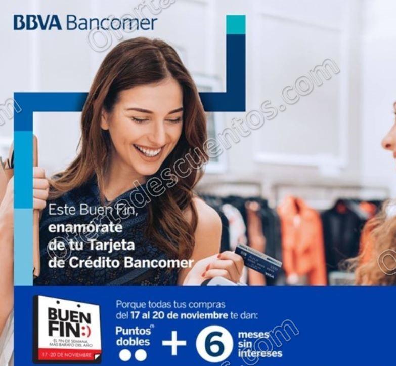 El Buen Fin 2017 Bancomer: Puntos dobles más 6 meses sin intereses