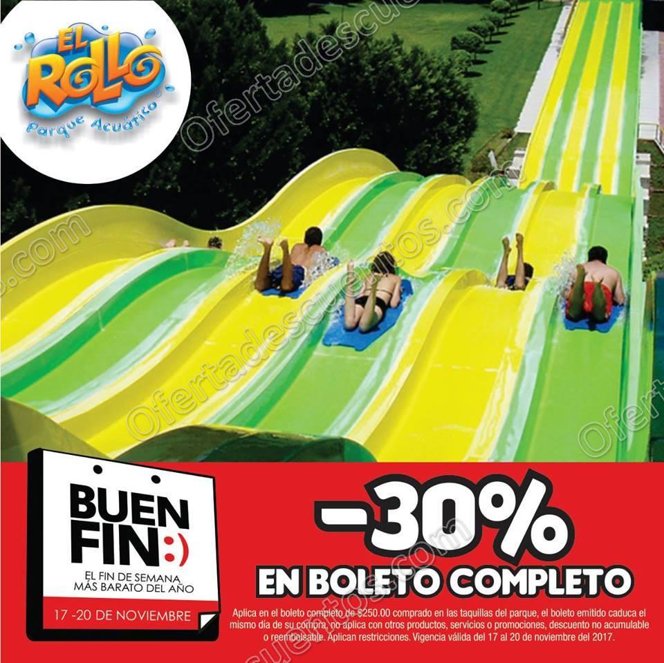 El Buen Fin 2017 Parque Acuático El Rollo: 30% de descuento