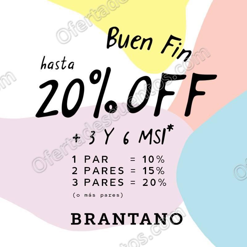 El Buen Fin 2017 Brantano: Hasta 20% de descuento
