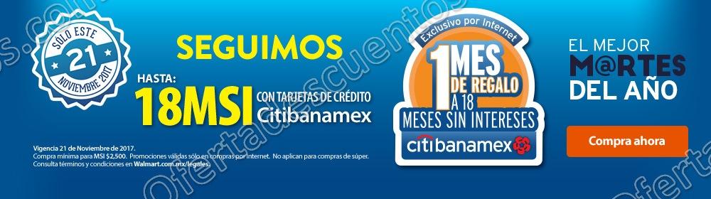 El Mejor Martes del Año Walmart: Hasta 18 meses sin interses más 1 mes de regalo con Banamex