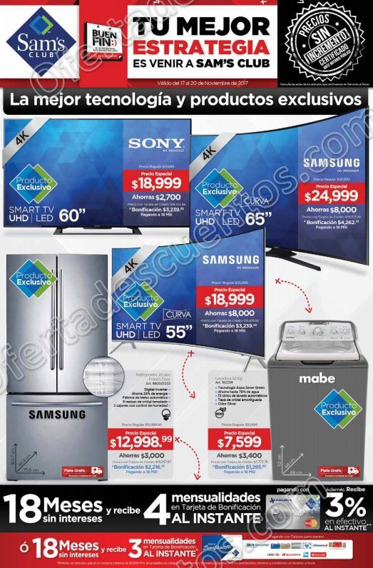Folleto de Ofertas El Buen Fin 2017 Sam's Club