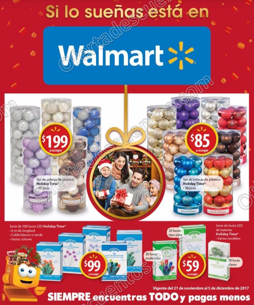 """Walmart: Folleto de Ofertas """"Si lo sueñas está en Walmart"""" del 21 de noviembre al 5 de diciembre 2017"""