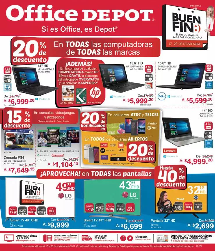 Folleto de Ofertas El Buen Fin 2017 Office Depot