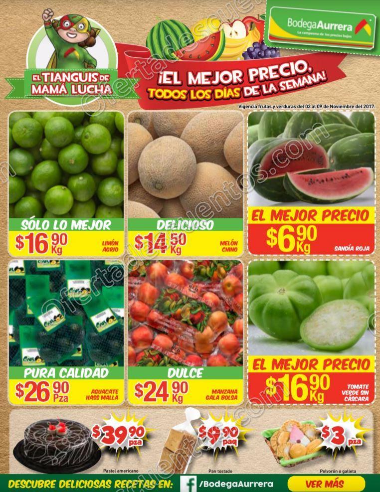 Bodega Aurerrá: Frutas y Verduras Tiánguis de Mamá Lucha del 3 al 9 de Noviembre