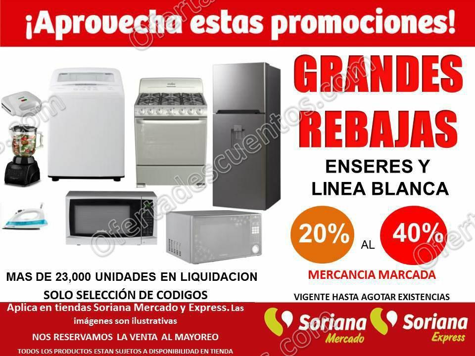 Soriana Mercado: Hasta 40% de descuento en Línea Blanca y Electrodomésticos y más