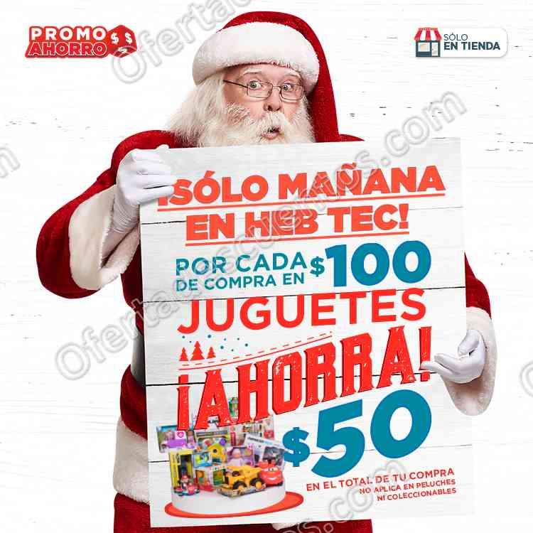 HEB Tec: $50 de descuento por cada $100 de compra en Juguetes