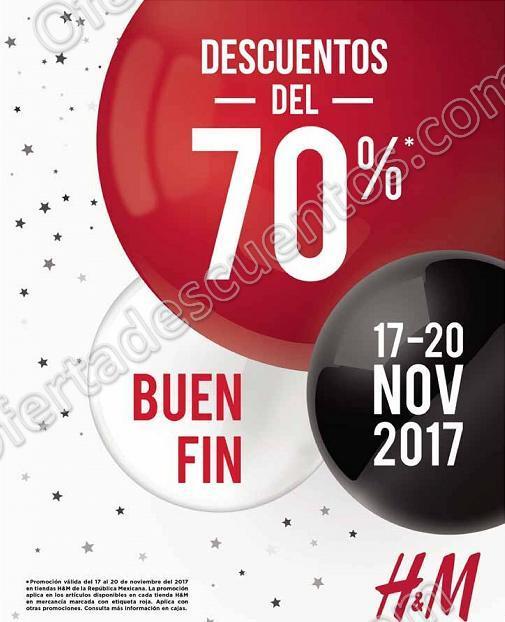 El Buen Fin 2017 H&M: 70% de Descuento Mercancía Marcada