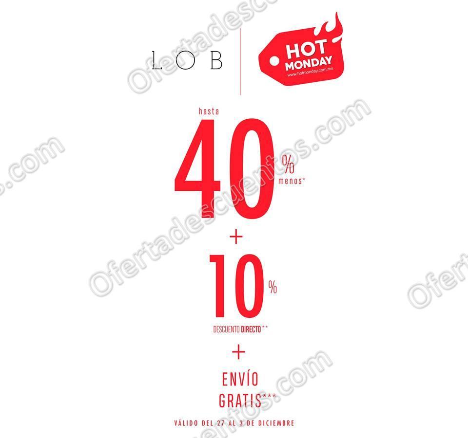 Hot Monday 2017 LOB: Hasta 40% de descuento más 10% adicional y envío gratis