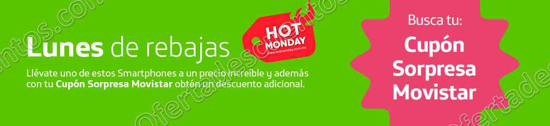 Hot Monday 2017 Movistar: Celulares con descuento más Cupón Sorpresa con descuento adicional