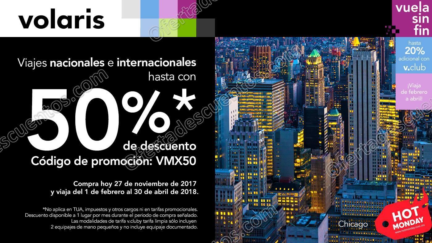 Hot Monday 2017 Volaris: Hasta 50% de descuento en vuelos nacionales e internacionales
