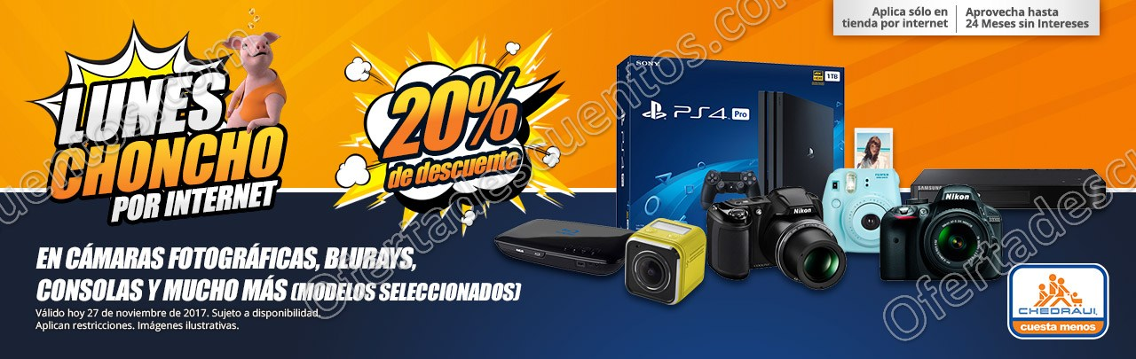 Lunes Choncho por Internet Chedraui: 20% de descuento en lavadoras, secadoras y más 27 de Noviembre