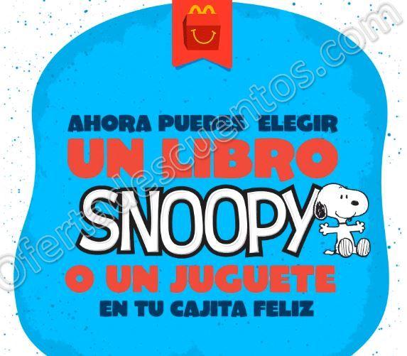 McDonald's: Elige Libro o Juguete de Snoopy gratis en Cajita Feliz