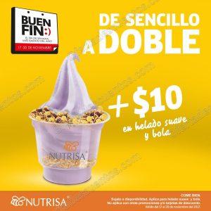 El Buen Fin 2017 Nutrisa: Convierte helado sencillo a doble por $10 más