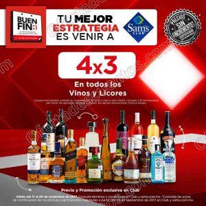 Promoción El Buen Fin 2017 Sam's Club: 4×3 en todos los vinos y licores