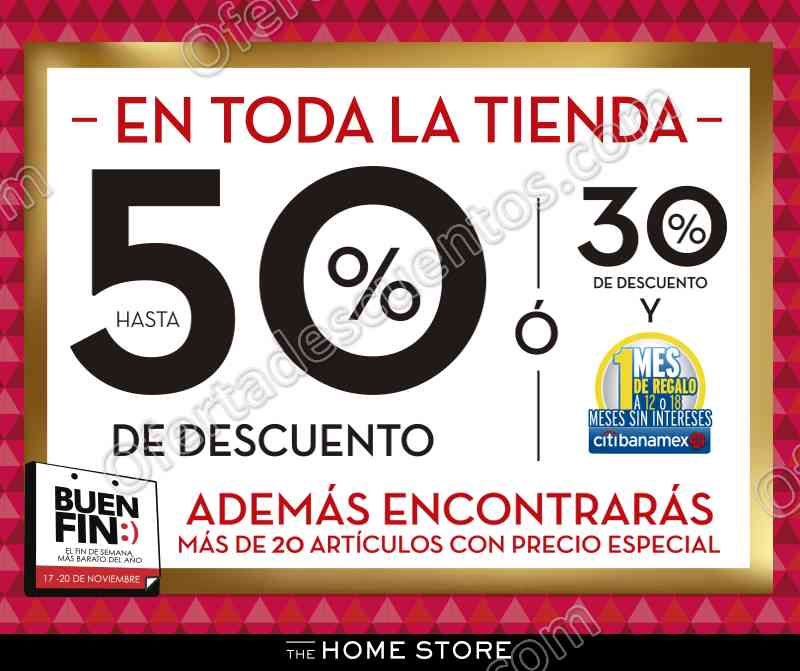 El Buen Fin 2017 The Home Store: Hasta 50% de descuento