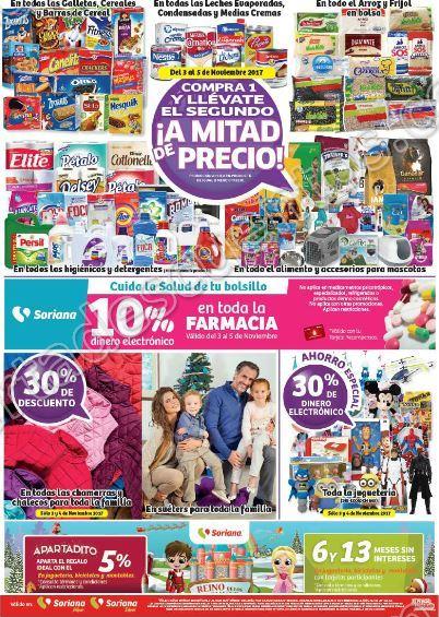 Soriana: Promociones del Fin de Semana del 3 al 6 de noviembre 2017